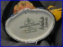 ROYAL DOULTON GENERAL CUSTER Large CHARACTER JUG, D7079 Hand signed