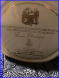 ROYAL DOULTON JUG Ronald Reagan D6718 Large Character Jug #348- Rare