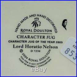ROYAL DOULTON LORD HORATIO NELSON D7236 Character Toby Jug Limited Edition NEW