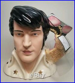 ROYAL DOULTON Large 7 ELVIS PRESLEY Character Mug Jug EP6 Vegas LE with BOX