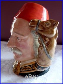 ROYAL DOULTON Large GENERAL GORDON Character Toby JUG D6869 by William K. Harper