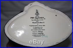 ROYAL DOULTON Mr. Quaker Large Character Jug D6738 1985 Ltd Edition