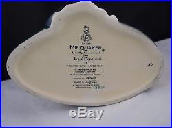 ROYAL DOULTON Mr. Quaker Large Character Toby Jug D6738 Limited Edition 3500