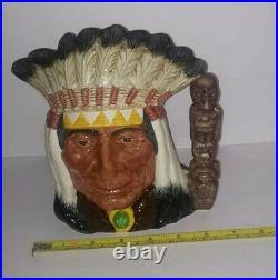 ROYAL DOULTON NORTH AMERICAN INDIAN CHARACTER JUG D6611 Canadian Centennial 1967