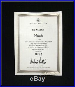 ROYAL DOULTON Noah Large Character Jug D7165 Men of History Ltd Edition