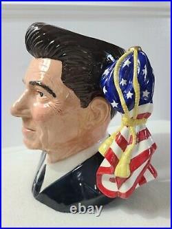 ROYAL DOULTON Ronald Reagan D6718 Large Character Jug #1015/2000 RARE