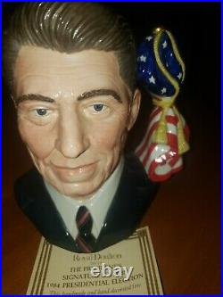ROYAL DOULTON Ronald Reagan D6718 Large Character Jug #1303/5000 RARE