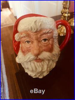 ROYAL DOULTON SANTA CLAUS Character Jug Mug 1983 7.5 Inches Tall Numbered 06704