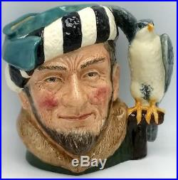 ROYAL DOULTON SIGNED D6533 LARGE THE FALCONER Toby Jug Character Pitcher 7