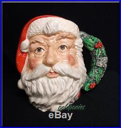 ROYAL DOULTON Santa Claus Large Character Jug D6794 Holly Wreath Handle