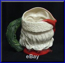 ROYAL DOULTON Santa Claus Large Character Jug D6794 Wreath Handle