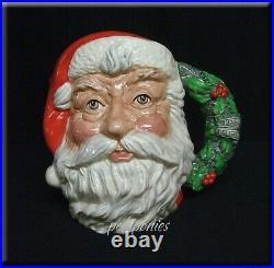 ROYAL DOULTON Santa Claus Large Character Jug Holly Handle D6794