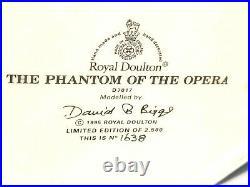 ROYAL DOULTON The Phantom of the Opera D7017 Large Character Jug #1638/2500 RARE