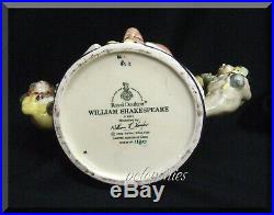 ROYAL DOULTON William Shakespeare D6933 Large Character Jug Limited Edition