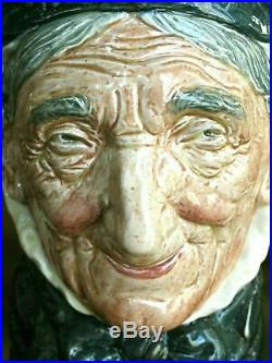 Rare 1937 Royal Doulton Toothless Granny Character Jug D5521 Mint Condition