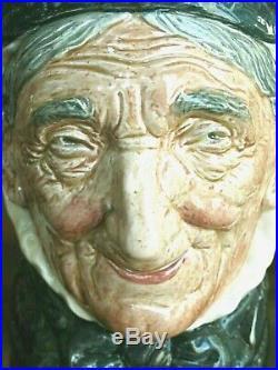 Rare 1937 Royal Doulton Toothless Granny Character Jug D5521 Perfect Cond