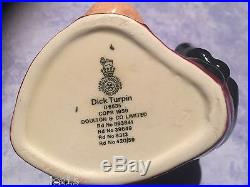 Rare Character Toby JUG Royal Doulton DICK TURPIN D6535 England horse handle