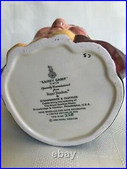 Rare Color Royal Doulton Sairey Gamp D6770 Ltd Ed. 228/250, with Certificate