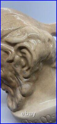 Rare Find! Royal Doulton Large Ivory Mccallum Whiskey Character Jug