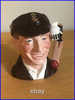 Rare Jack Hobbs D7131 Coa Cricket Collection Small Character Jug Royal Doulton