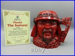 Rare Large Royal Doulton Character Jug Flambe THE SAMURAI D7255