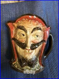 Rare Large Royal Doulton Character Jug Mephistopheles two-faced with verse