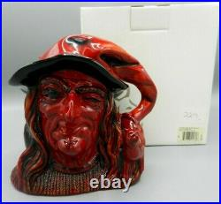 Rare Large Royal Doulton Character Jug THE WITCH FLAMBE D7239