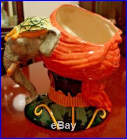 Rare Large Royal Doulton Character / Toby Jug Elephant Trainer D6841