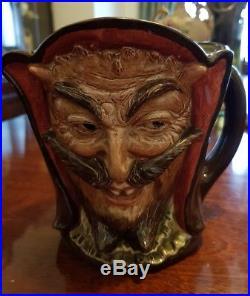 Rare Large Royal Doulton Character Toby Jug Mephistopheles