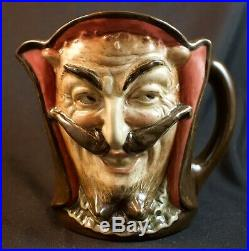 Rare Large Royal Doulton Mephistopheles Character Jug D5757 With Verse