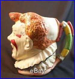 Rare Large Royal Doulton Red Hair Clown Character Jug D6322 Great Condition