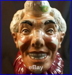 Rare Large Royal Doulton White Hair Clown Character Jug D6322 Great Condition