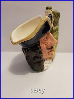 Rare Medium Royal Doulton Character / Toby Jug Captain Hook D6601