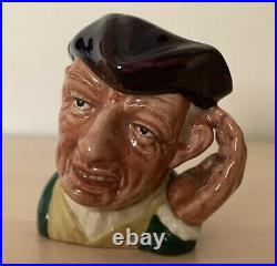 Rare Mini 2.5 ETC Royal Doulton Character Jug Ard of Earing D6534 Perfect