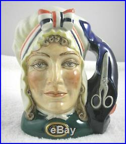 Rare Royal Doulton Betsy Ross Large 7 In. Toby Character Jug, Mint, England