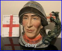 Rare Royal Doulton Character Jug St George Ltd Edition #123/2500 WithCOA Mint