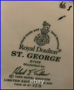 Rare Royal Doulton Character Jug St George Ltd Edition #123/2500 WithCert Mint