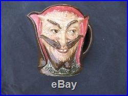 Rare Royal Doulton Devil Mephistopheles 5 7/8 Tall Toby Character Jug