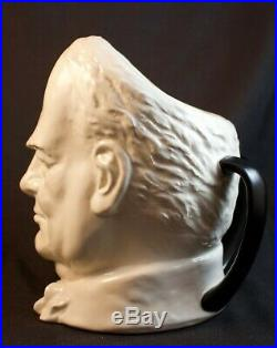 Rare Royal Doulton Early White Churchill Character Jug D6170 Great Condition