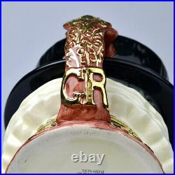 Rare Royal Doulton Gold Handle Beefeater Large Character Jug