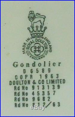 Rare Royal Doulton Large Character Jug Gondolier D6589