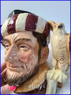 Rare Royal Doulton Large Character Jug The Falconer D6800 Colourway EXCELLENT
