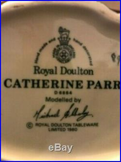 Rare Royal Doulton Lg. 7 Henry VIII & 6 Wives Toby Character Jugs Mint Full Set