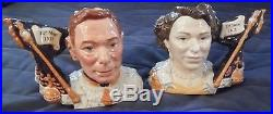 Rare Royal Doulton Ltd Ed Character Jugs Queen Elizabeth & King George VI 2002