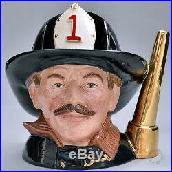 Rare Royal Doulton Prototype Character Jug The Fireman