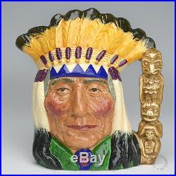 Rare Royal Doulton Prototype North American Indian Large Character Jug