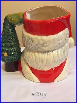 Rare Royal Doulton Santa Claus D7123 Tree Handle Special Edition Character Jug