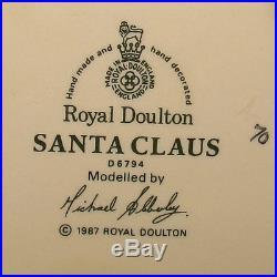 Rare Royal Doulton Santa Claus Holly Wreath Large Size Character Jug D6794
