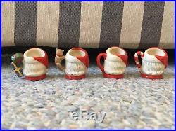 Rare Royal Doulton Set 4 Santa Claus Tiny Character Mug Jug Limited Edition