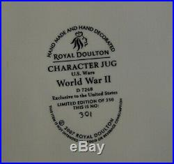 Rare Royal Doulton WWII US soldier character jug Limited Edition of 350 in box